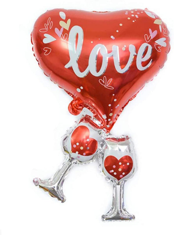 Balloon - Love with Champagne Glass