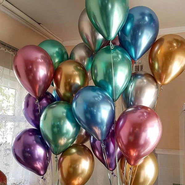 Balloons - Metallic Chrome - Set of 10