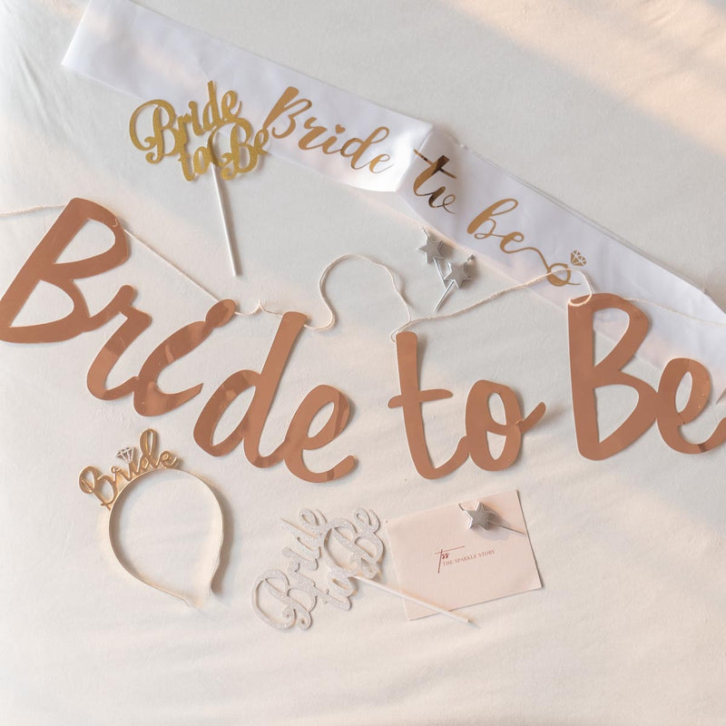 Bunting - Bride To Be - Rose Gold