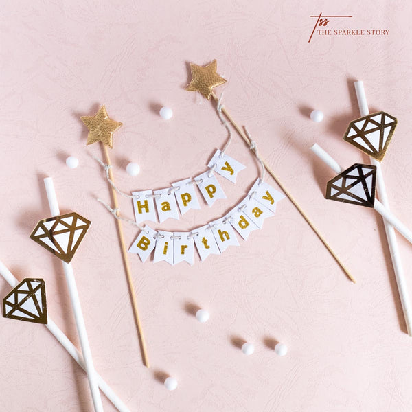 Cake Topper - Happy Birthday Banner