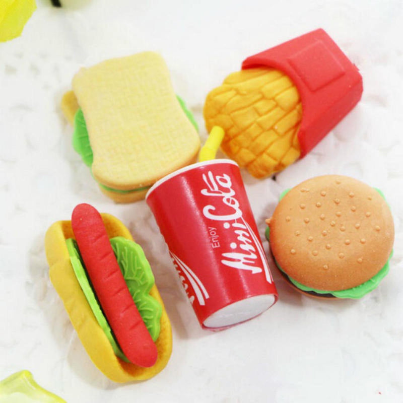 Erasers - Fast Food - Set of 4