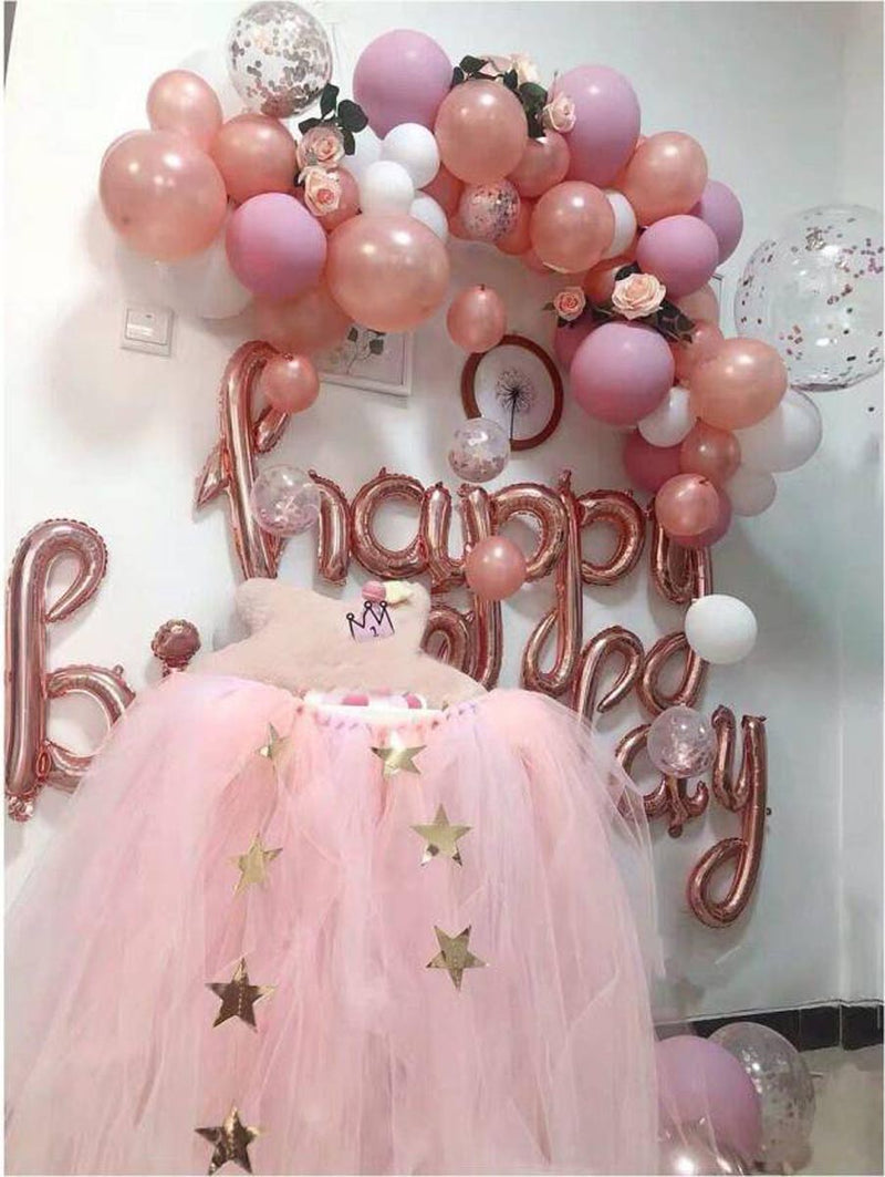 Foil Balloon - Cursive Happy Birthday - Rose Gold