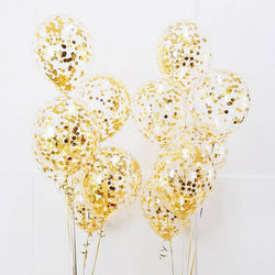 Gold Confetti Balloons - Set of 5