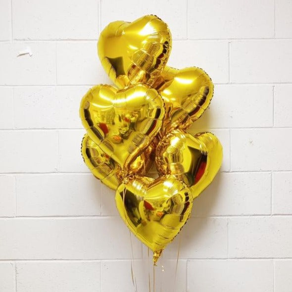 Heart Foil Balloon - Gold