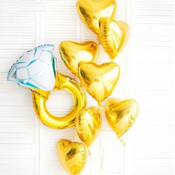 Heart Foil Balloon - Gold - Set of 3