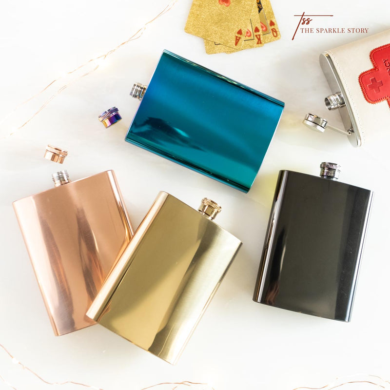 Metallic Hip Flask