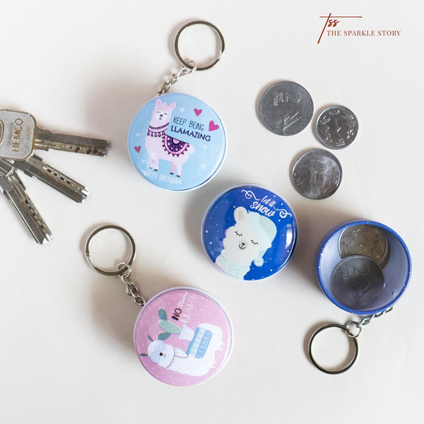 Llama Keychain With Storge Box -Assorted