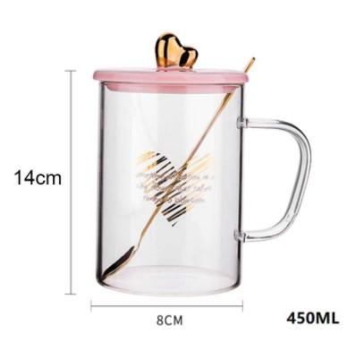Love Gold Mug with Lid and Spoon