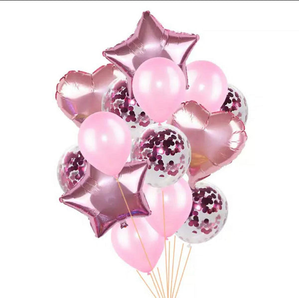 Balloon - Party Bouquet - Heart -  Pink