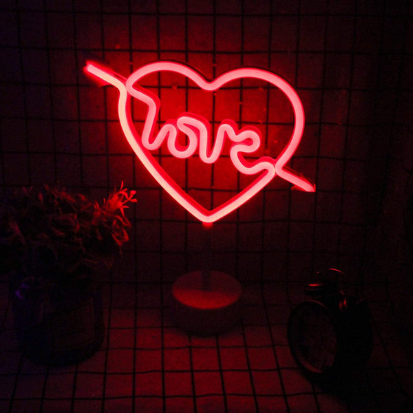 Neon LED Lamp -  Cupid Love - Red