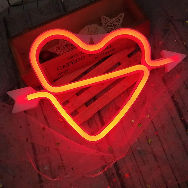 Neon LED Light -  Cupid Bow - Red