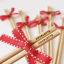 Load image into Gallery viewer, Personalized Bamboo Chopsticks