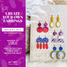 Load image into Gallery viewer, DIY Earring Kit: Bright