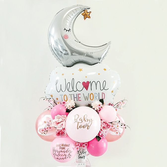Balloon Bouquet for Baby Girl - Wanderclose