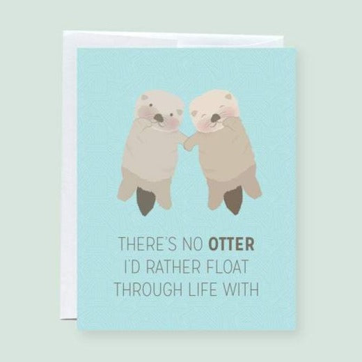 Otter Friendship Card