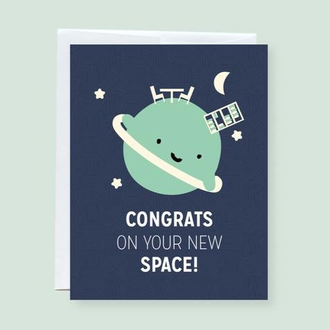 New Space Greeting Card