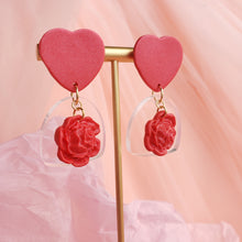 Load image into Gallery viewer, Enchanted Rose Earrings