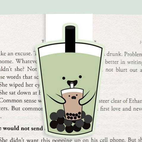 Bubble Tea Magnetic Bookmark
