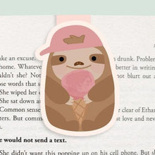 Load image into Gallery viewer, Sloth + Ice Cream Bookmark