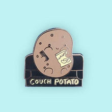 Load image into Gallery viewer, Couch Potato Enamel Pin