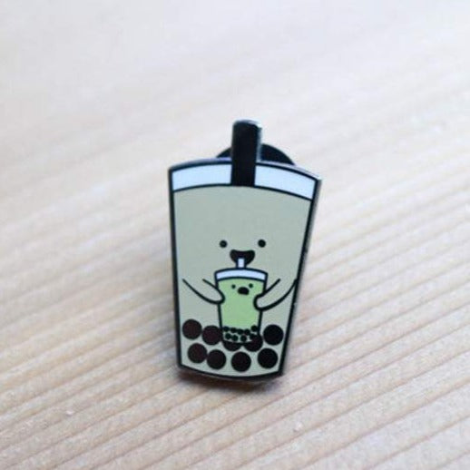 Milk Tea BBT Enamel Pin