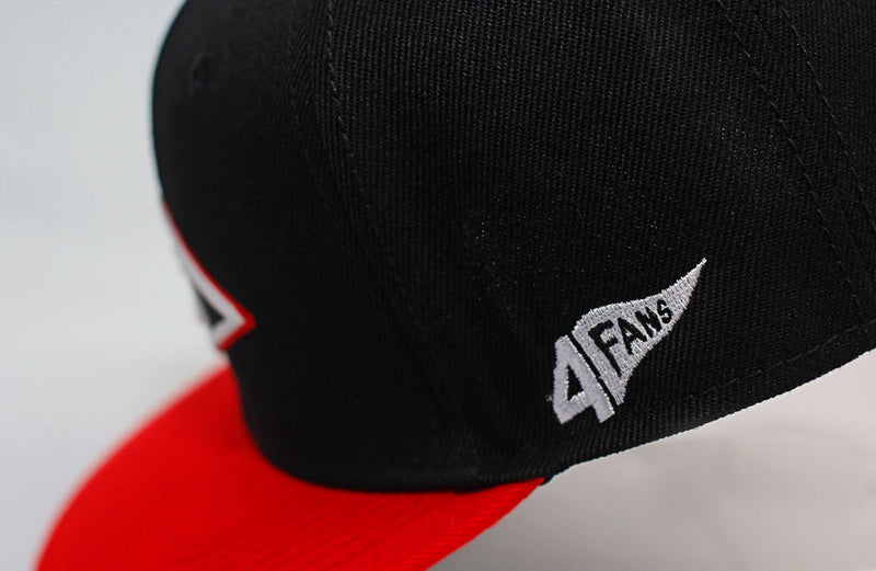 GORRA 4FANS ESCOGIDO FITTED BLK/RED
