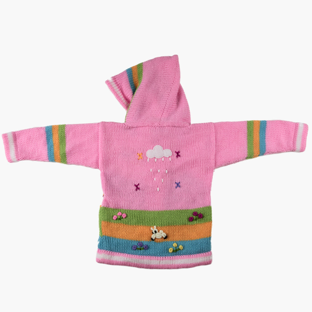Light Pink Children's Cardigan, 'Peruvian Fairy Tales'