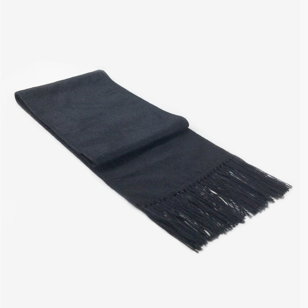 Men's Black Alpaca Wool Blend Scarf, 'Winter'
