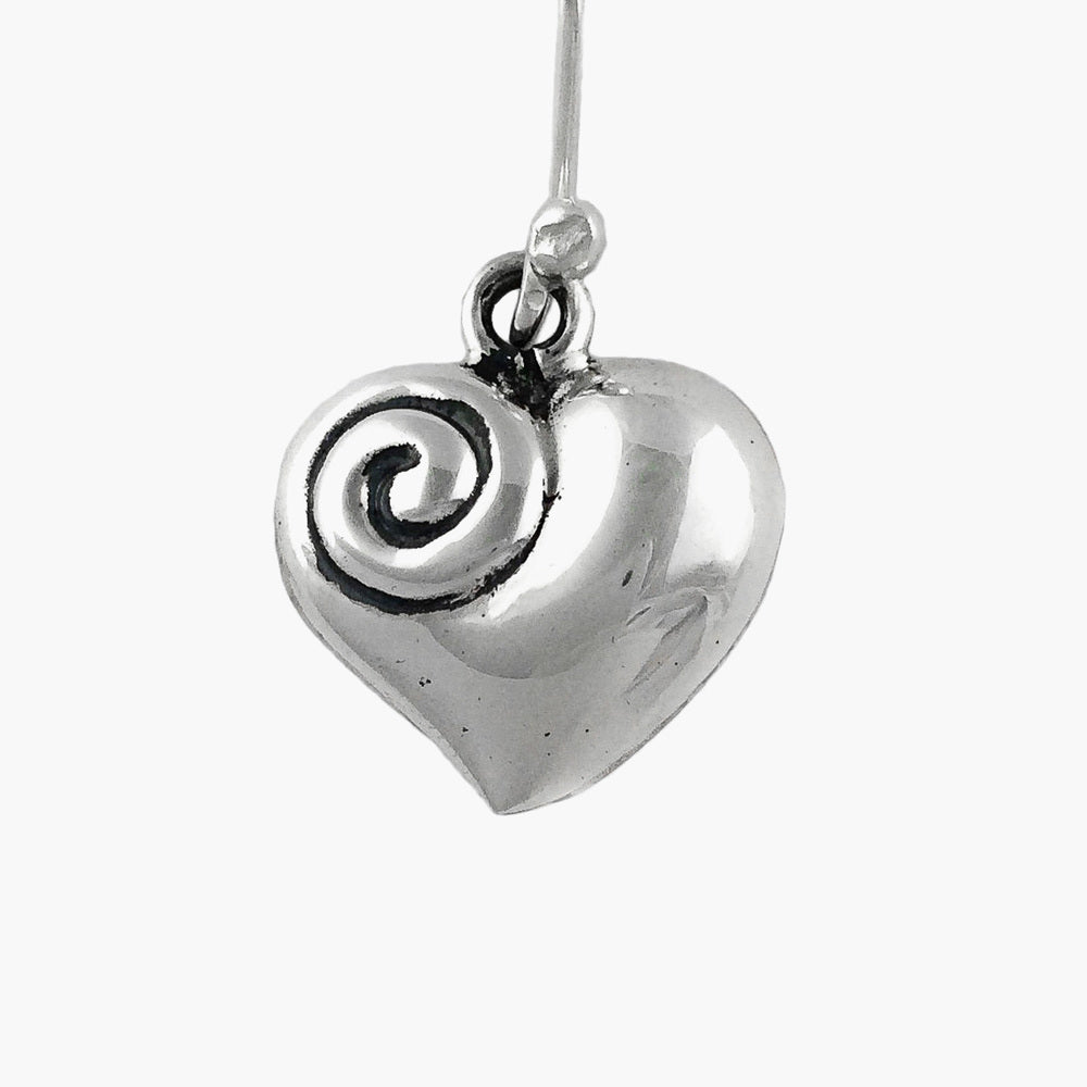 Silver Earrings - The Spiral of Love