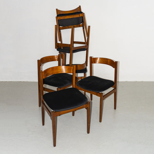 Model 101 chairs by Gianfranco Frattini (Set of six)