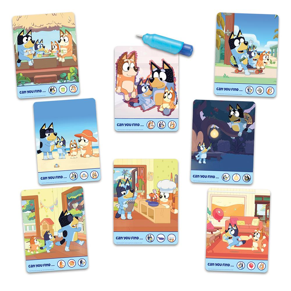 Bluey Travel Tin Water Art Activity Set Contents www.giftplayground.com.au