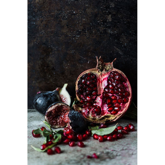 Tea Towel - Fresh Pomegranate & Figs
