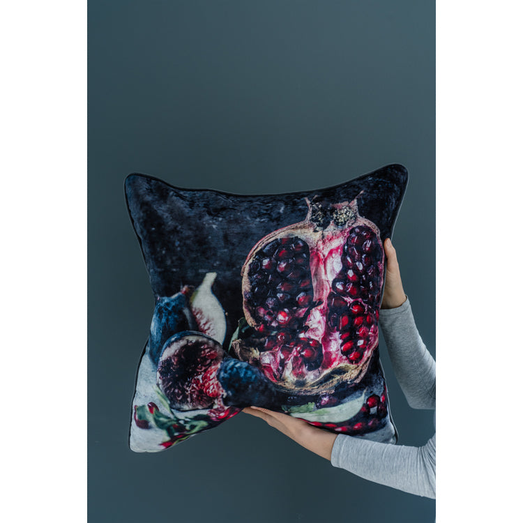 Velvet Cushion - Pomegranate & Fig