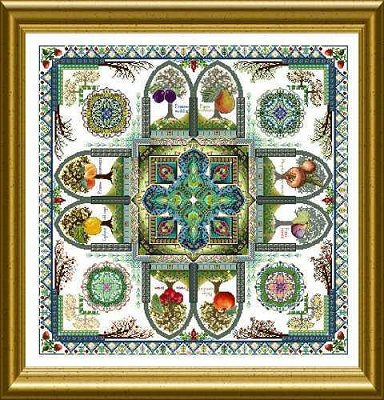 CHAT121<BR>The Medieval Fruit Garden Mandala (Pomarium)