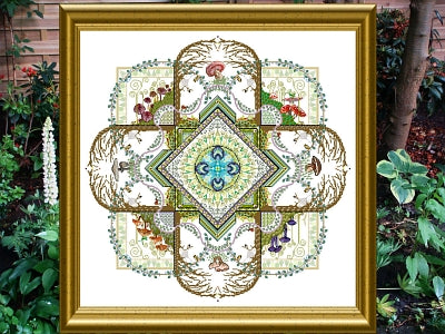 CHAT160<BR>The Mushroon & Fern Mandala
