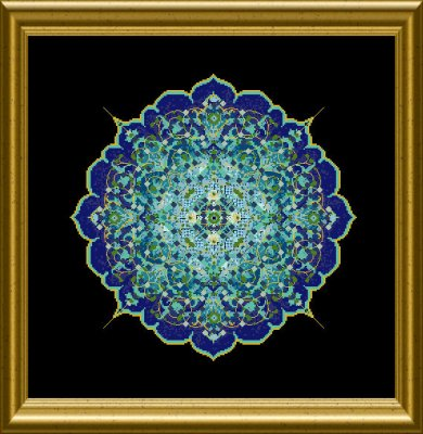 CHATA180<BR>The Blue Moroccan Lace Mandala