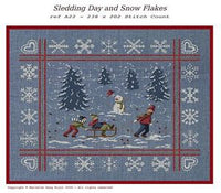 Sledding & Snow Flakes