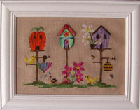 Spring Birdhouse (chart and button)