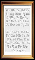 Backstitch Alphabets