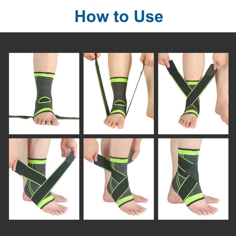 FootHealth.com-Adjustable Ankle Compression Brace with Stabilizer Straps-How-to-Use