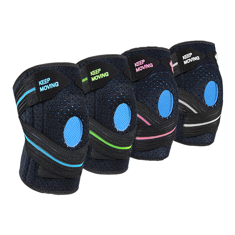 Adjustable Knee Compression Brace with Neoprene Gel and Stabilizer Straps