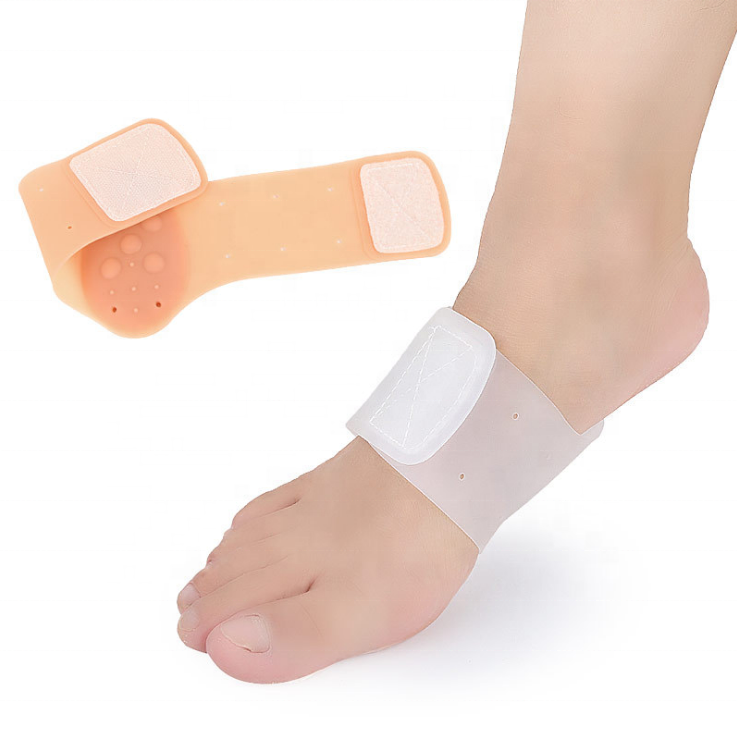 Compression Cushioned Arch Support Gel Sleeve for Pain Relief from Plantar Fasciitis, Heel Spurs, Achilles Tendonitis and Flat Feet - Foot Pad