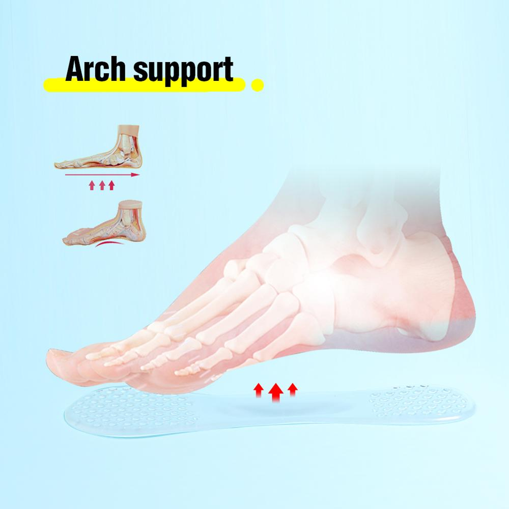 Discreet Massage Gel Insoles - Shoe Insoles for Plantar Fasciitis, Flat Feet, Bone Spur, & Sore Heel Pain - Insole