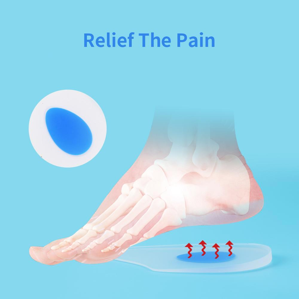 Extended Silicone Gel Heel Cups & Shoe Inserts for Plantar Fasciitis, Bone Spur, Sore Heel & Achilles Pain Relief - Heel Pad