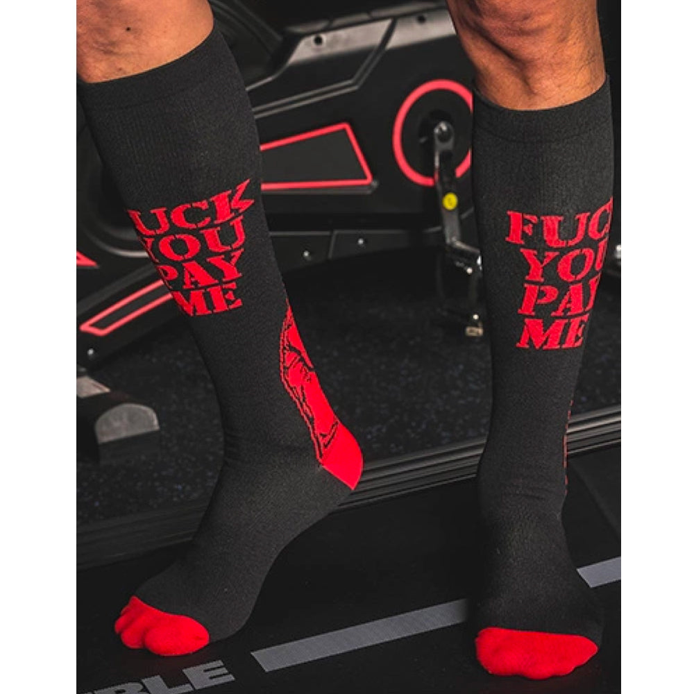 Pay Me Red Design Leisure Compression Socks 20-30 mmHg