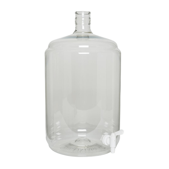 CARBOYS - 23L (6 Gal) Plastic PET Carboy Ported With Spigot