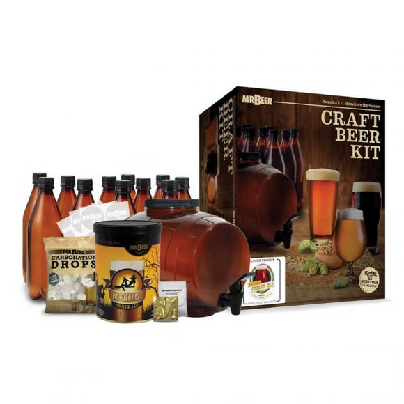 Mr Beer Starter Kit -Bewitched Amber Ale (with Bottles) - 2/C