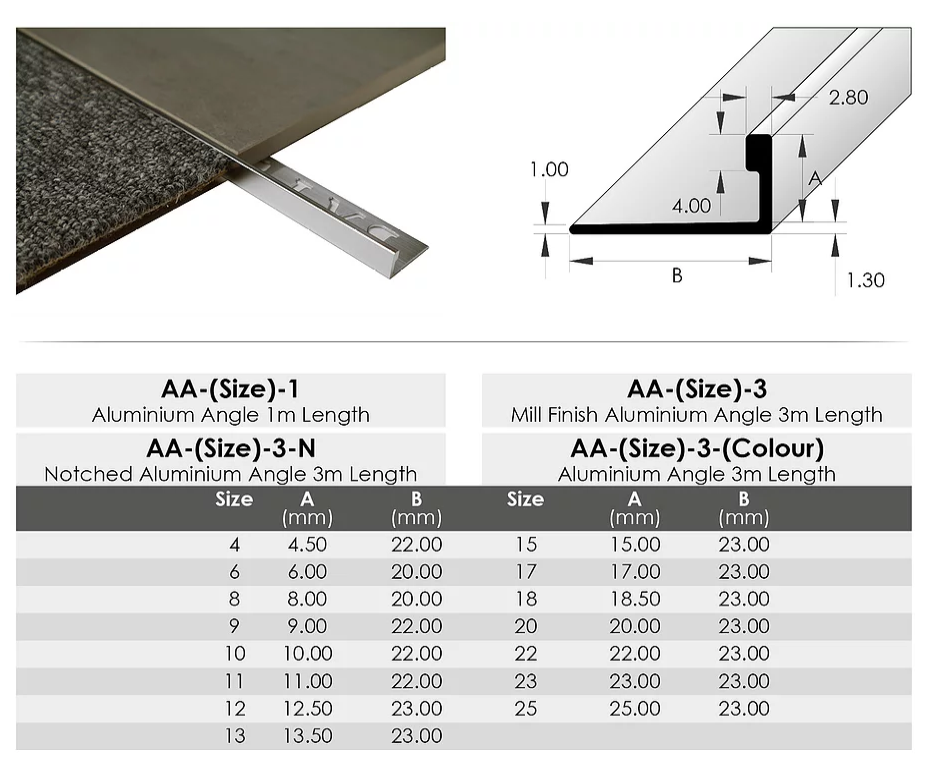 Tile Angle - L Shaped Perforated