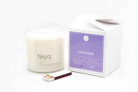 Sarah Spitsen of Feya Candle Co. - makes candles and other homewares. donating a portion of sales to homeless and ending hunger charity