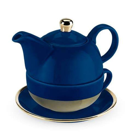 Pinky Up Tea Pit set for one in Blue